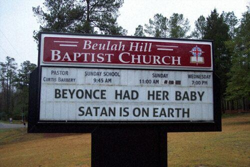 Beyonce's Baby Triggers Church Vandalism
