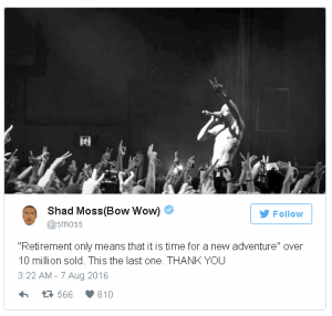Bow Wow Tweet