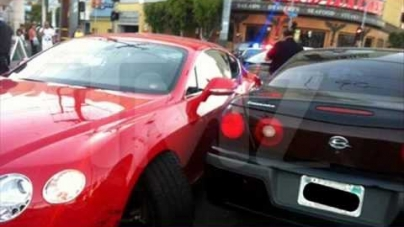 Soulja Smashes Bentley In Hollywood